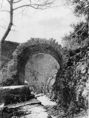 Old bridge in Voidomatis River
