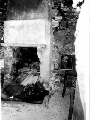 The fireplace of the watermile in Kipi