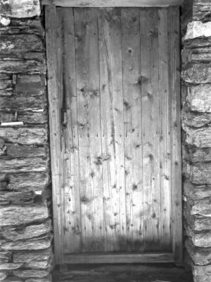 Traditional Zagori front door