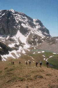 Climbing up to Astraka peak