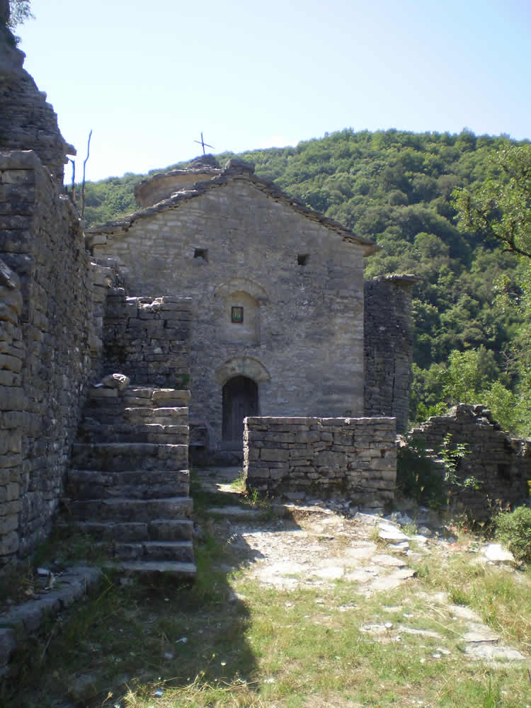 Old monastery in Voidomatis River