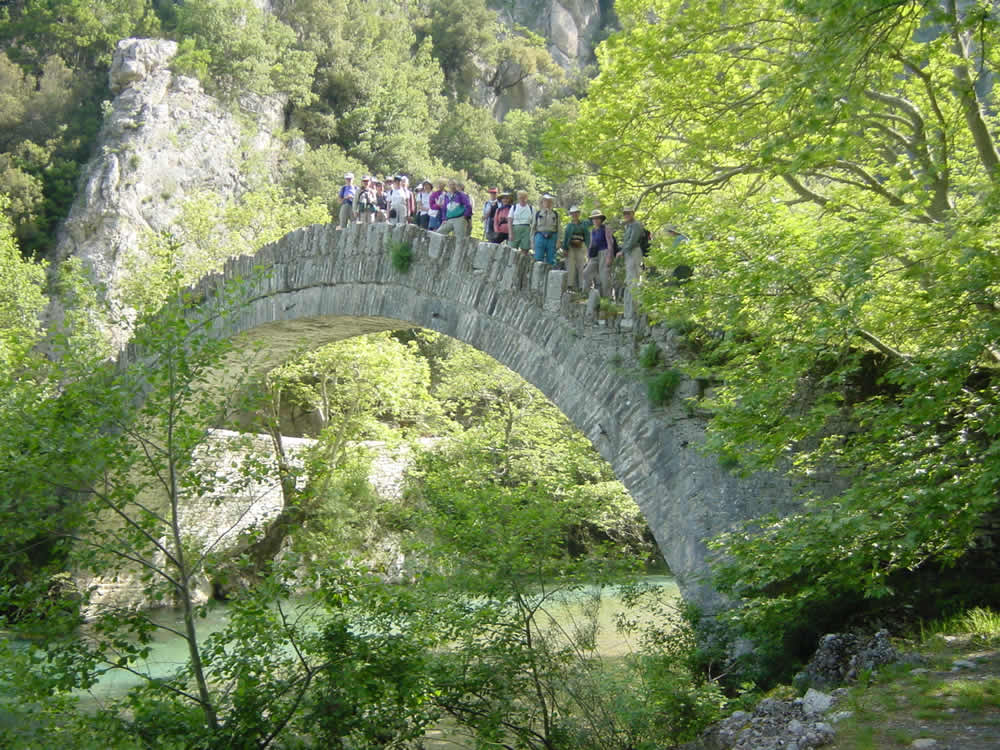 Old stone made bridge