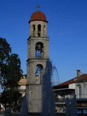 Bell tower in Litochoro