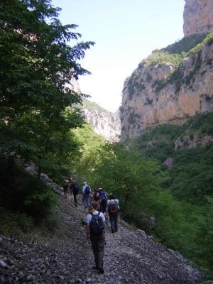 Hiking in Vikos Gorge