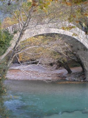 Stone arch bridge in Zagori