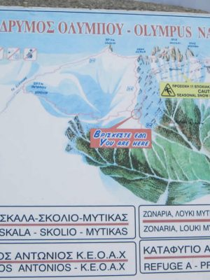 The most popular routes of Mt. Olympus