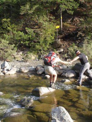 Trekking in Aoos River