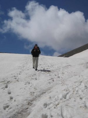 Walking on the peaks of Mt. Olympus