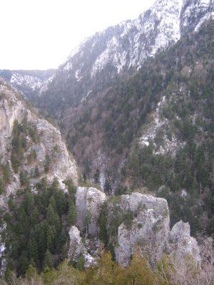 Wintertime on Pindos mountains