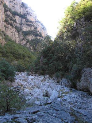 Inside Vikos Gorge