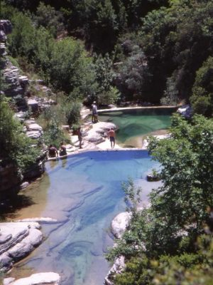 Natural swimming pools in Papigo