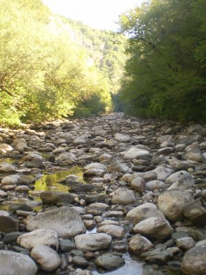 River bed of Voidomatis