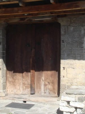 Traditional front door in Zagori